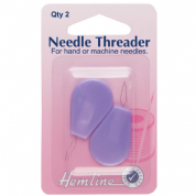 Hemline Needle Threader With Plastic Handle - 2 pack